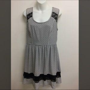 Bar III black lace dress medium